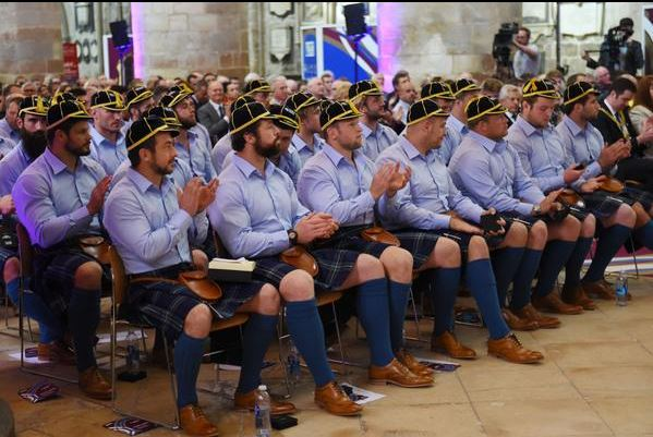 made to measure shirts for the Scotland Rugby Team